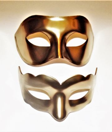 Genuine Venetian Gold His & Hers  Masks
